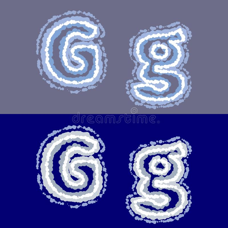 Vector Letter J On Grey And Blue Background Stock Vector
