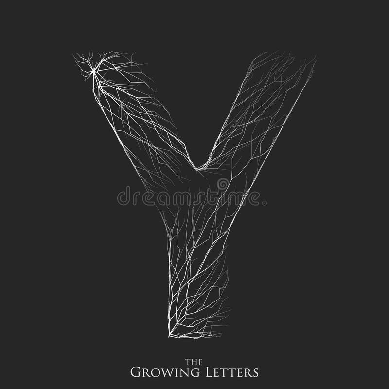 Vector letter y of branch or cracked alphabet y symbol consisting download vector letter y of branch or cracked alphabet y symbol consisting of growing white thecheapjerseys Images