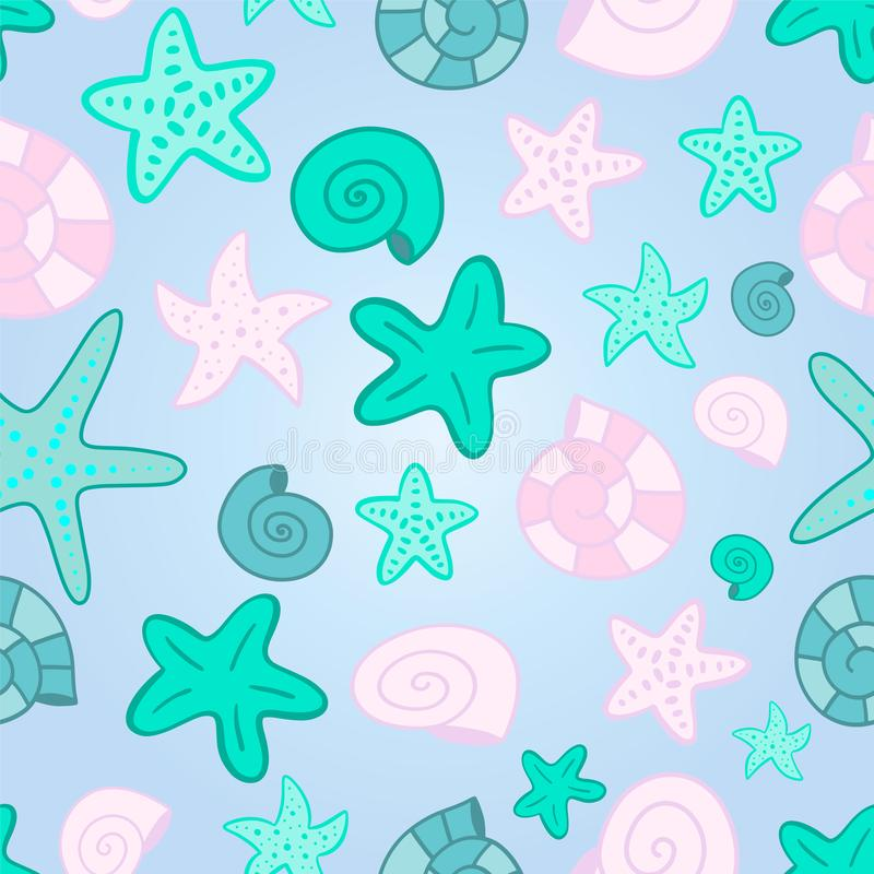 Vector mermaid scale seamless pattern vector illustration