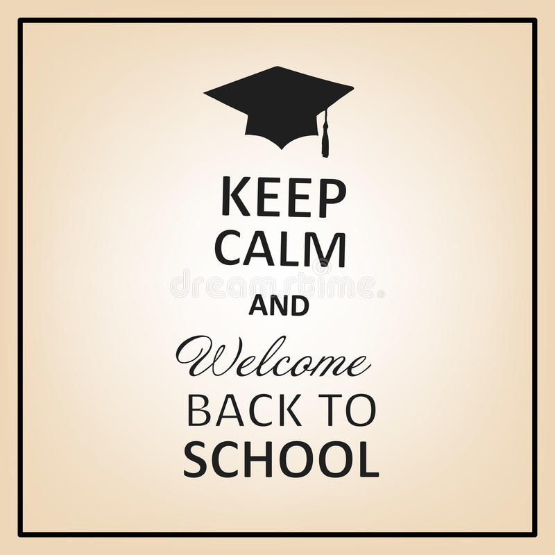 download vector lettering inscription keep calm and welcome back to school stock vector illustration of