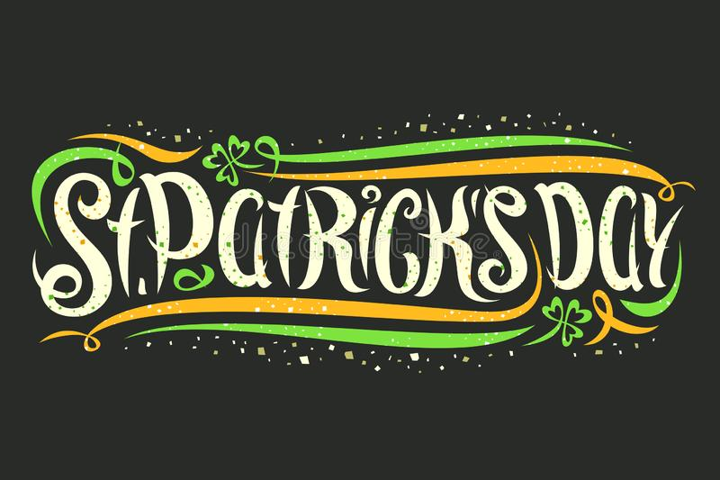 Vector lettering for Saint Patrick`s Day royalty free illustration
