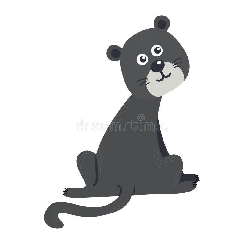 Vector leuk Afrikaans dier panther Grappig karakter voor jonge geitjes royalty-vrije illustratie