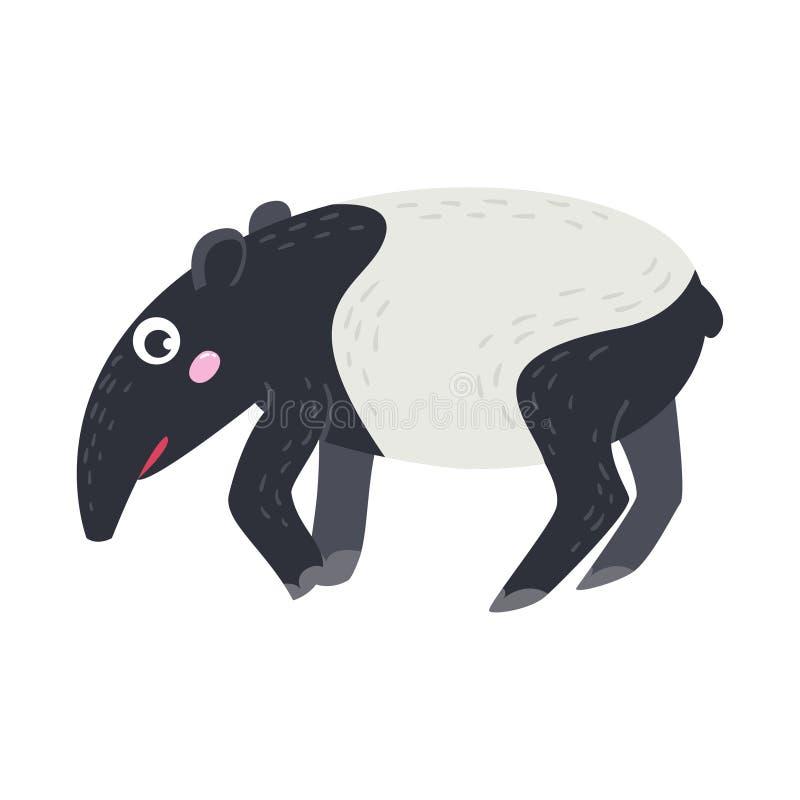 Vector leuk Afrikaans dier tapir vector illustratie