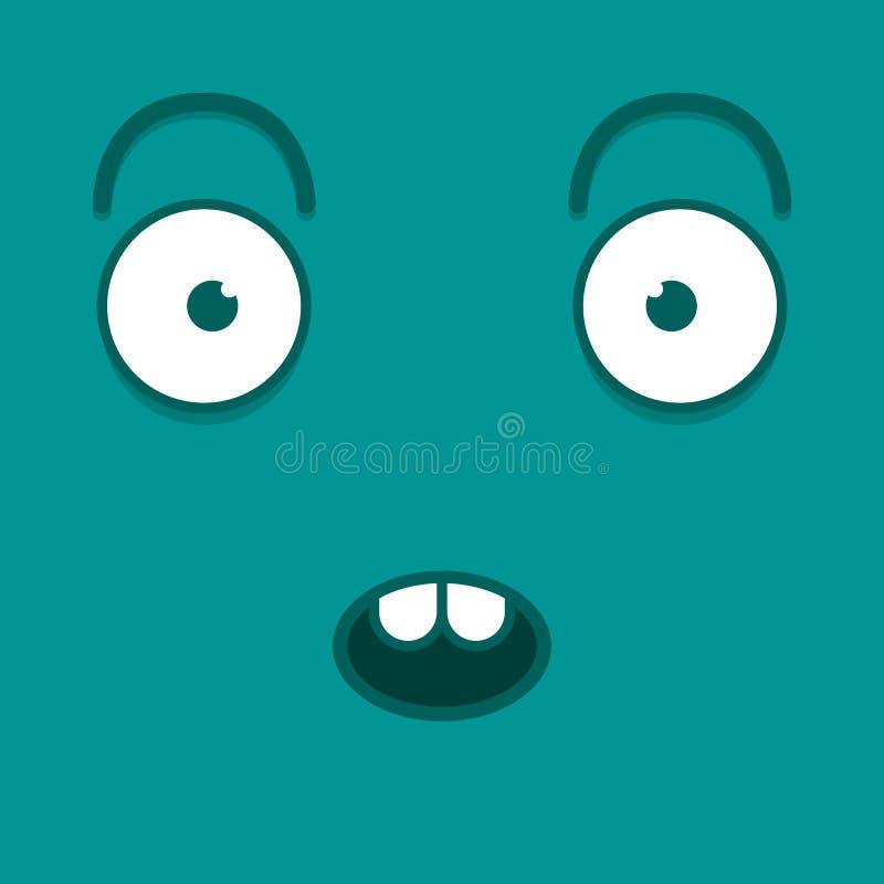 Download Vector Leuk Beeldverhaal Blauw Verrast Gezicht Stock Illustratie - Illustratie bestaande uit karakter, klem: 39105222