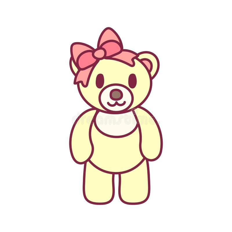 Vector Leuk Teddy Bear vector illustratie