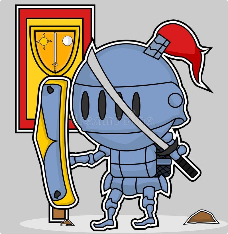 Vector leuke ridder stock afbeeldingen