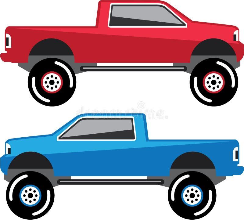 Vector levantado de la camioneta pickup ilustración del vector