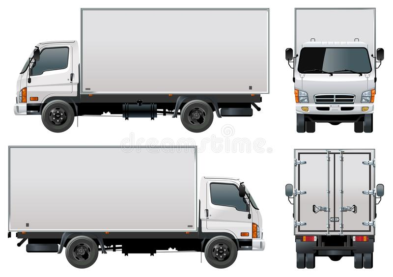 Vector levering/ladingsvrachtwagen stock illustratie