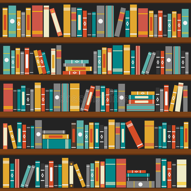 Vector Of Library Book Shelf Background Stock Vector - Image: 46005173