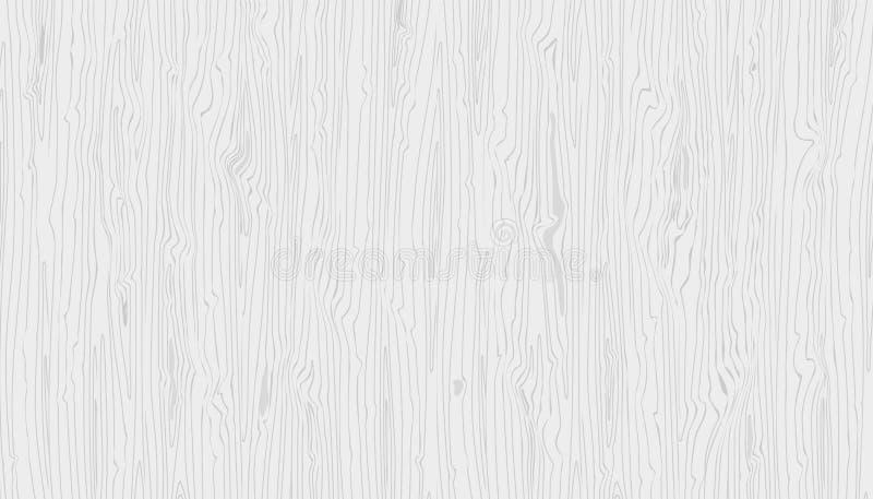 Vector lichtgrijze houten textuur Hand getrokken natuurlijke graun houten achtergrond royalty-vrije illustratie