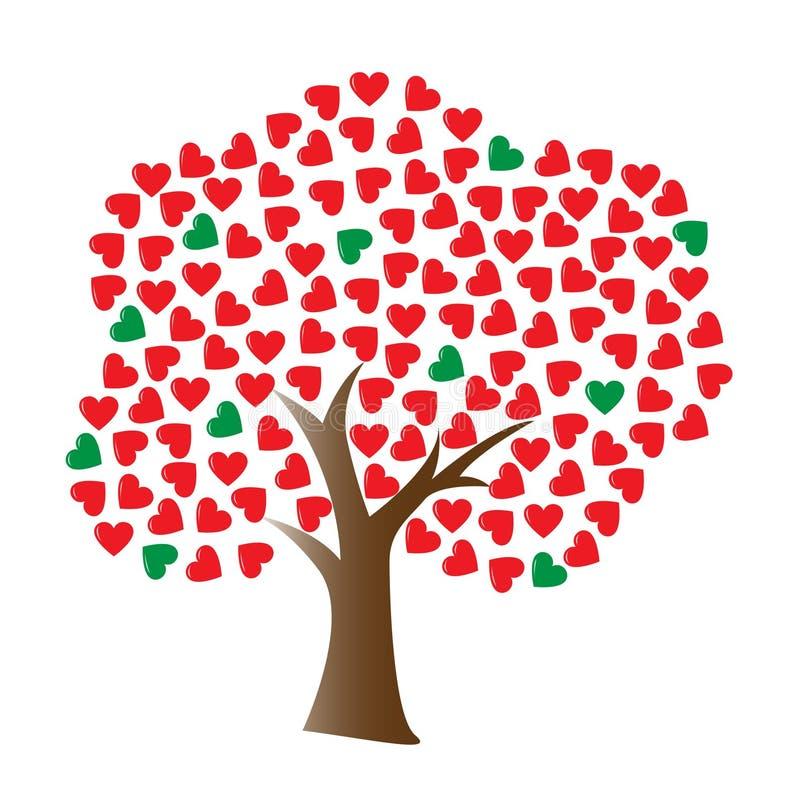 Vector liefdeboom royalty-vrije illustratie