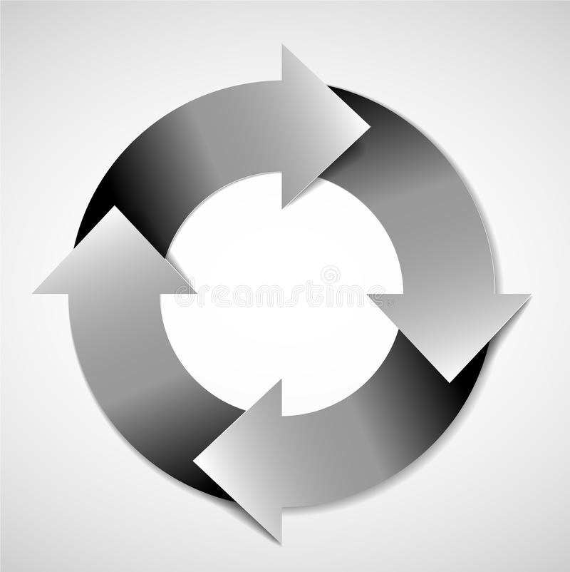 Vector life cycle diagram. Vector black and white life cycle diagram / schema royalty free illustration