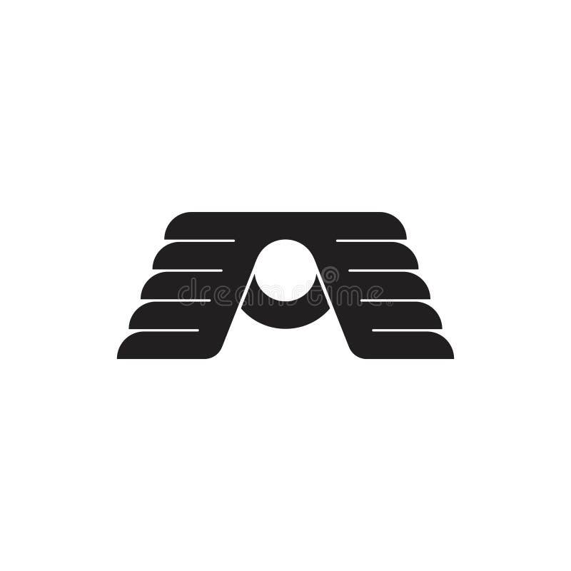 Vector ligado abstracto del logotipo de las alas stock de ilustración