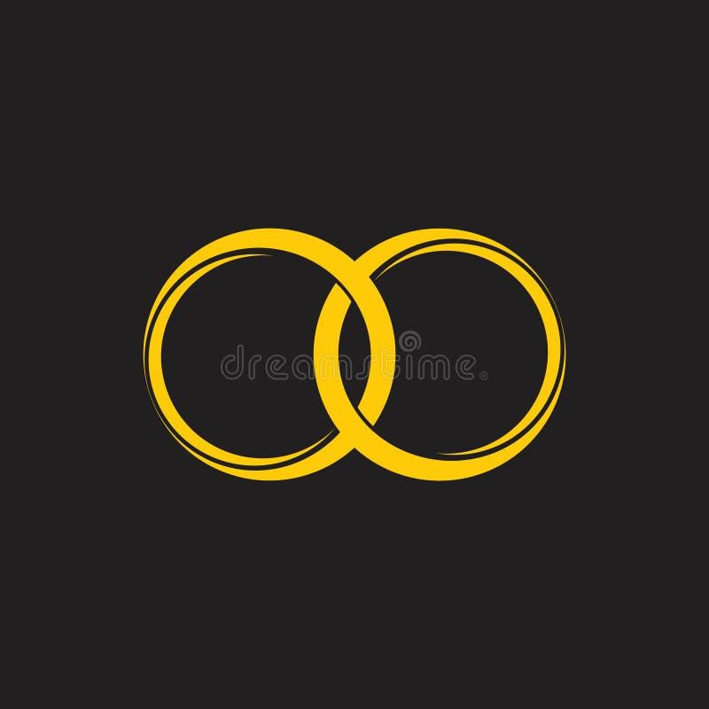 Vector ligado del logotipo del anillo 3d ilustración del vector