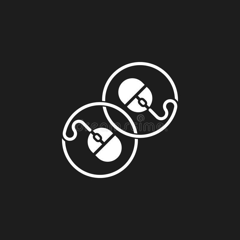 Vector ligado del logotipo del símbolo del cable del ratón de la PC ilustración del vector