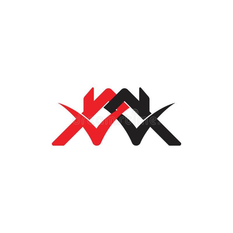 Vector ligado del logotipo del símbolo de la marca de verificación del hogar del tejado libre illustration