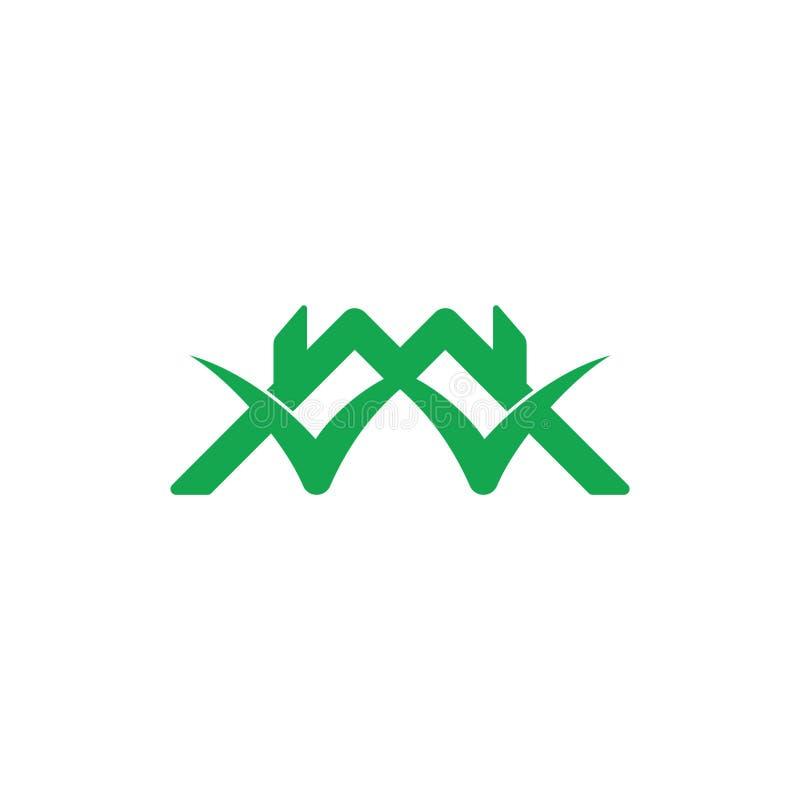 Vector ligado del logotipo del símbolo de la marca de verificación del hogar del tejado stock de ilustración