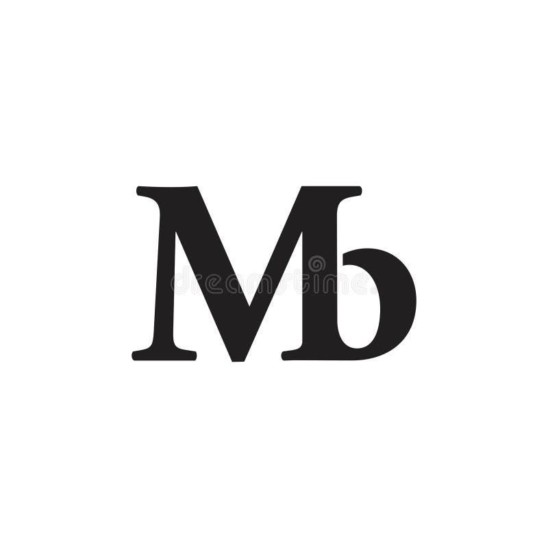 Vector ligado mb simple del logotipo stock de ilustración