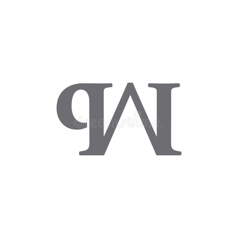Vector ligado simple del logotipo de Wq libre illustration