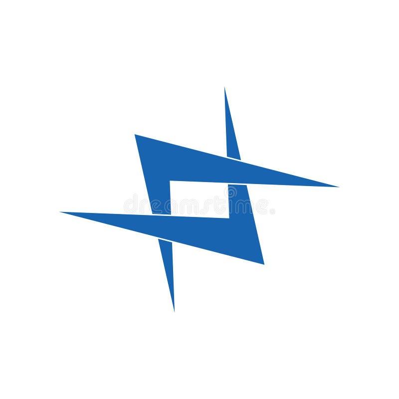 Vector ligado simple del logotipo del monograma de las flechas ilustración del vector