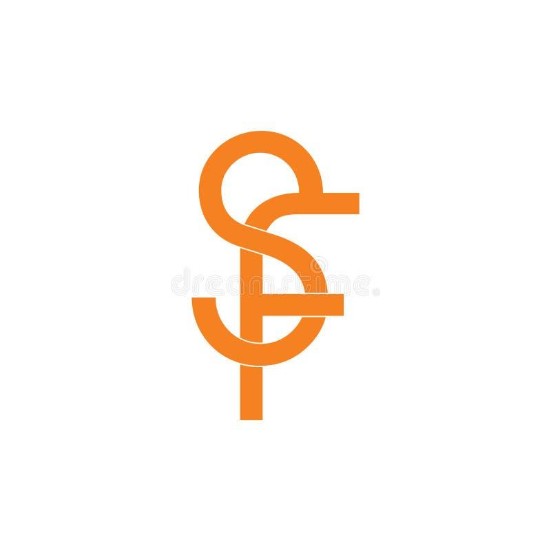 Vector ligado simple del logotipo del sf de la letra libre illustration