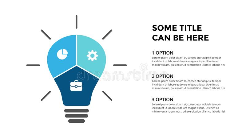 Vector Light Bulb Infographic. Template For Diagram, Graph ...