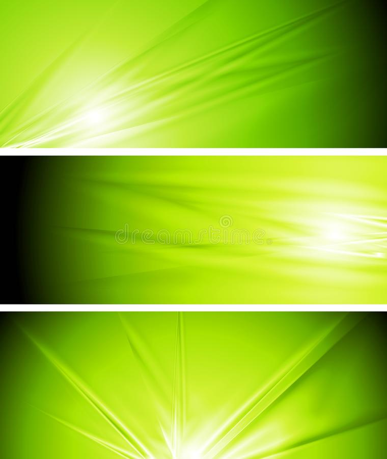 Free Vector Light Green Summer Banners Royalty Free Stock Image - 29060666