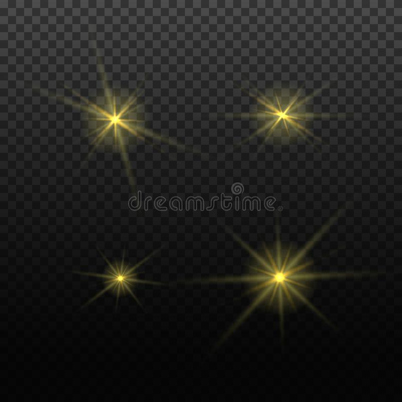 Free Vector Light Lens Flare Effect. Bright Golden Highlight. Space Star Explosion. Decorative Magic Christmas Element. Stock Photo - 158163300