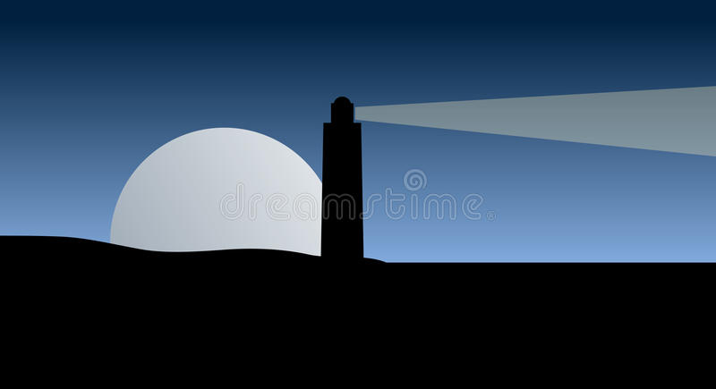 Download Vector lighthouse at night stock vector. Image of story - 9848846