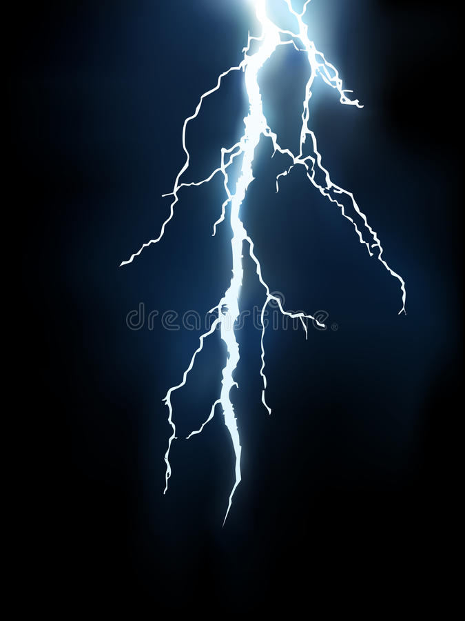 Vector lightning illustration. EPS 8.0 version available stock illustration