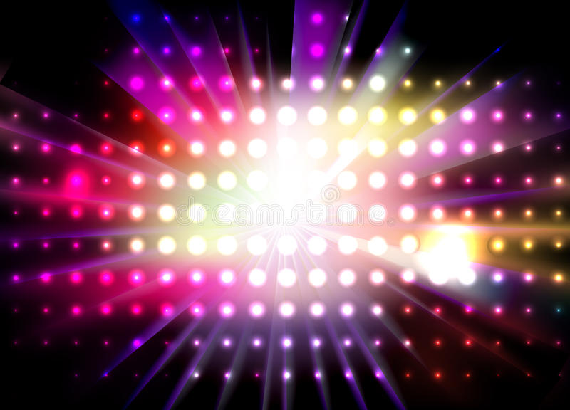 Vector Lights. Abstract light design. Useful background for a variety of nightlife related designs