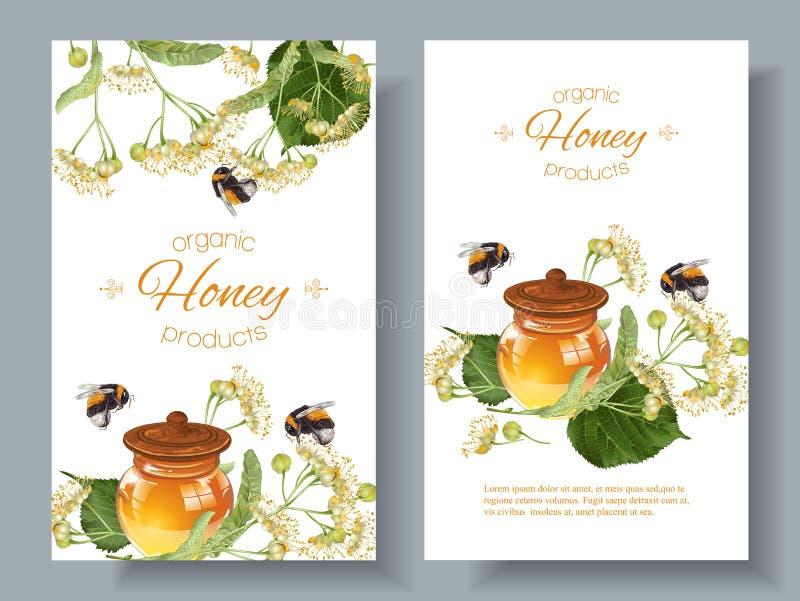 Vector linden honey banners vector illustration
