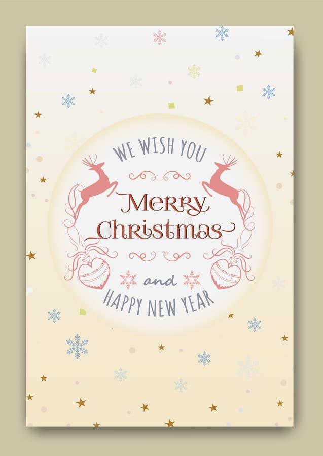Vector lindo de las tarjetas de Navidad libre illustration