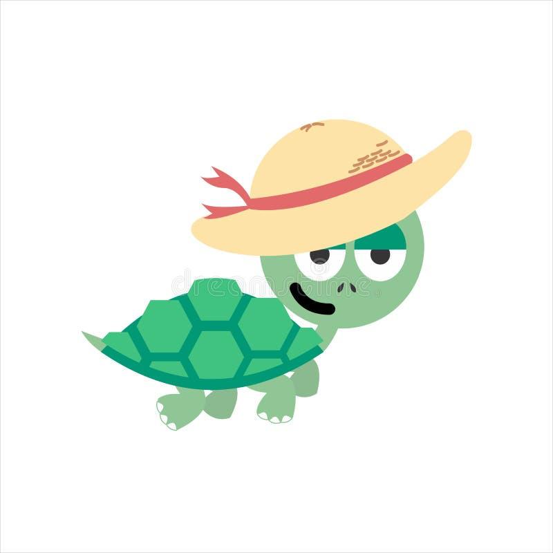 Vector lindo de las vacaciones de la tortuga del ejemplo fotos de archivo libres de regalías