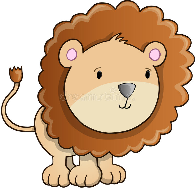 Vector lindo de Lion Cub libre illustration