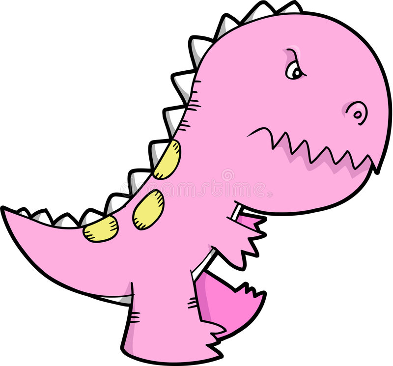 Vector lindo del dinosaurio libre illustration
