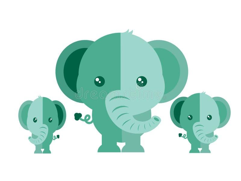 Vector lindo del elefante en un fondo blanco ilustración del vector