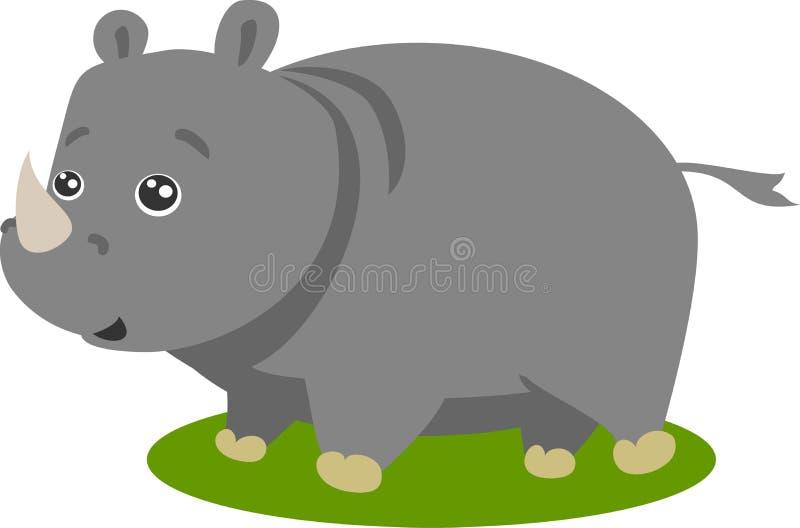Vector lindo del rinoceronte del safari stock de ilustración