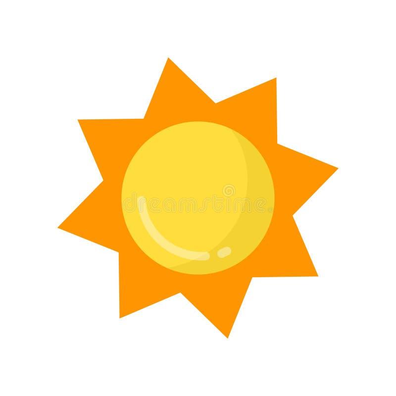 Vector lindo del sol de la historieta stock de ilustración