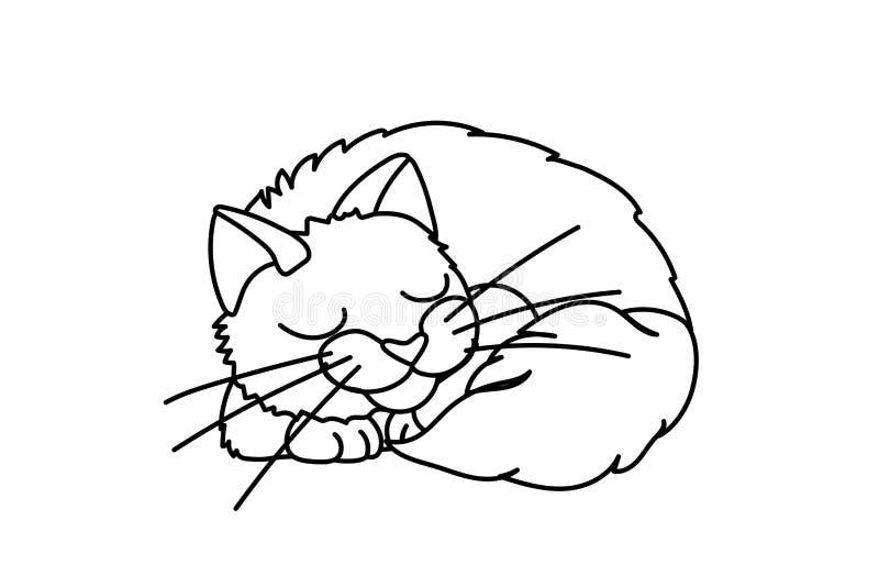 Vector line cartoon animal clip art stock illustration