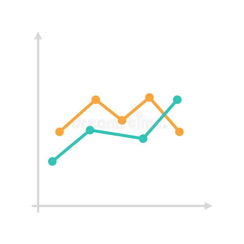 Vector line chart royalty free stock photography