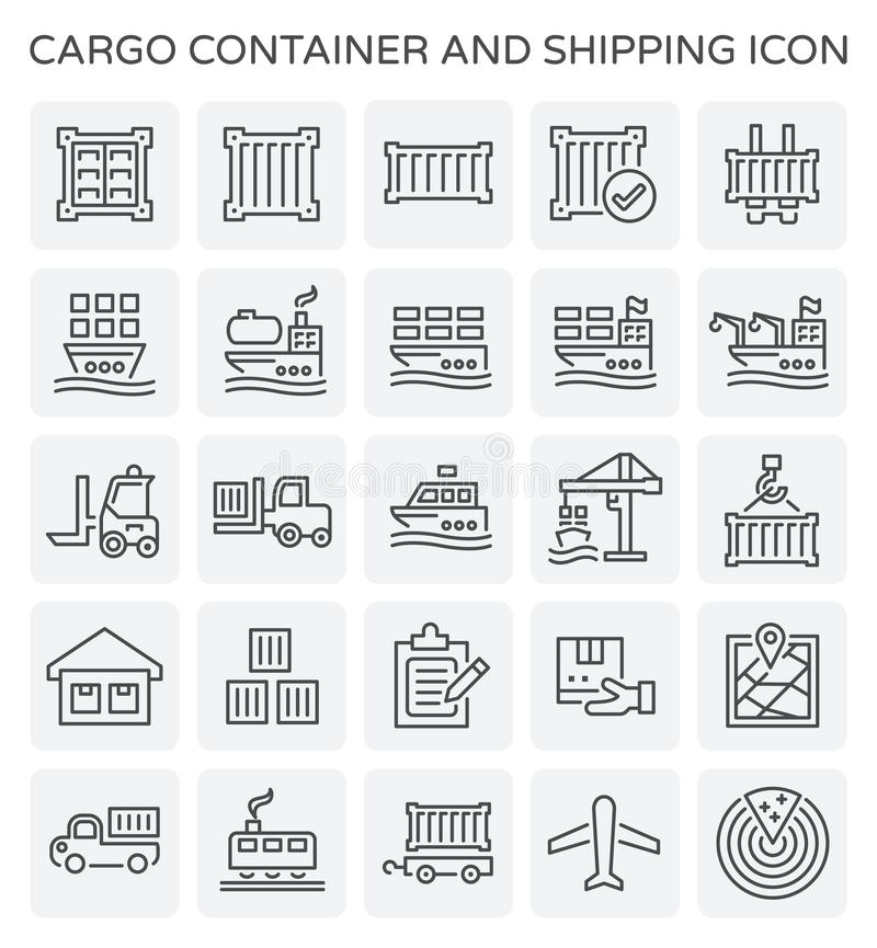 Shipping container icon vector illustration