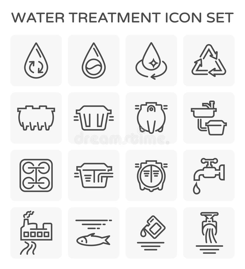 Water treatment icon vector illustration