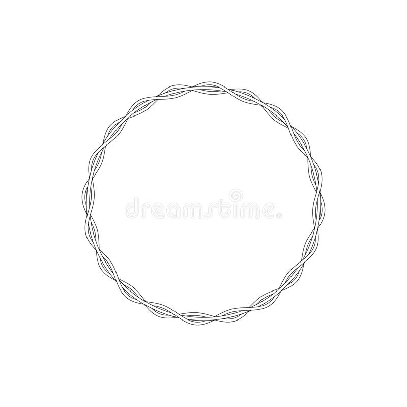 Vector linear style circle frame.  stock illustration