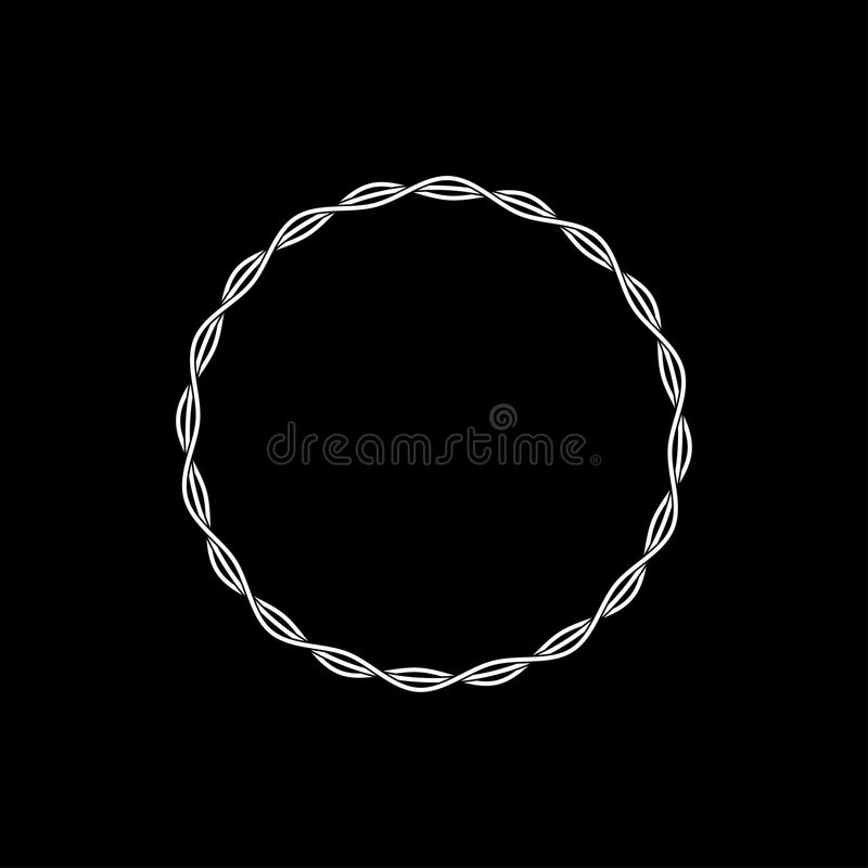 Vector linear style circle frame. Design vector illustration