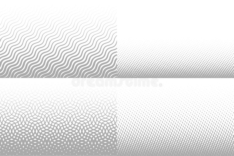 Vector lines gradient background for brochure. Grey unusual texture, line rhythm patterns collection. Vector linear. Seamless texture vector illustration