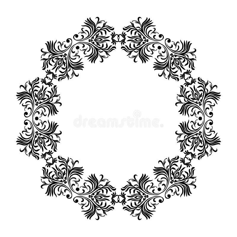Vector a linha decorativa quadros da arte para o molde do projeto Elemento elegante para o projeto, lugar para o texto Beira flor ilustração stock