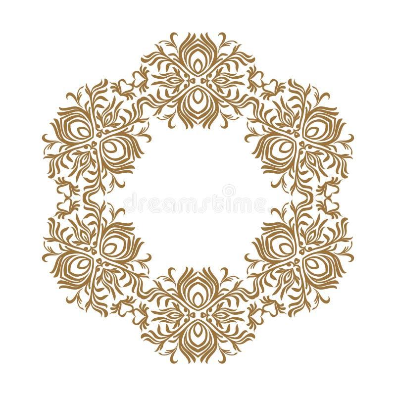 Vector a linha decorativa quadros da arte para o molde do projeto Elemento elegante para o projeto, lugar para o texto Beira flor ilustração royalty free