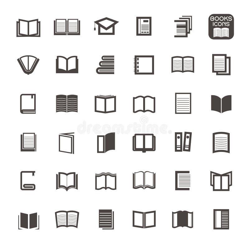 Vector a linha fina ícones registram no fundo branco ilustração stock