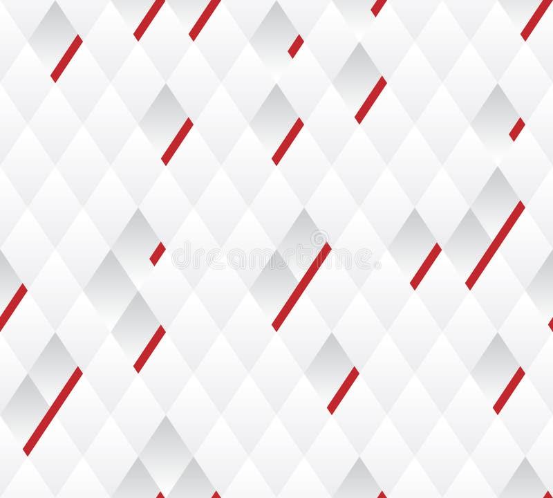 Vector linhas vermelhas do fundo, a branca e a cinzenta do teste padrão da largura geométrica. ilustração do vetor